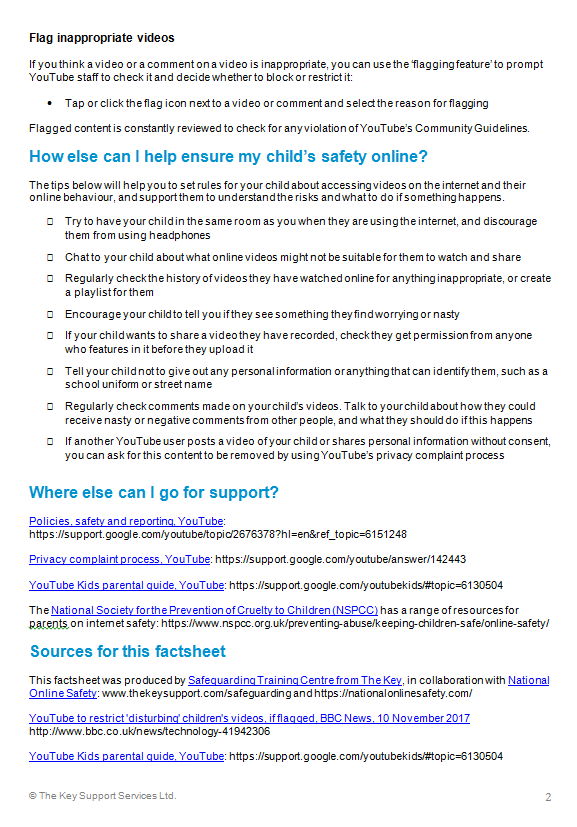 Child Safety on You Tube..
