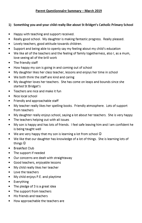 Parent Questionnaire March 2019